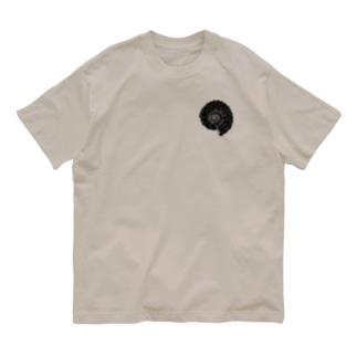 アンモナイト/ポイント Organic Cotton T-shirts