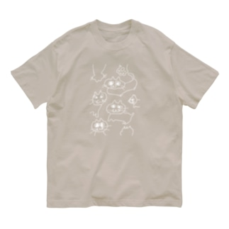 nekoneko!(白) Organic Cotton T-shirts