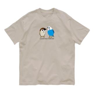 ちゅんポコツーショット Organic Cotton T-Shirt