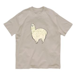 めっちゃ草ついてるアルパカ Organic Cotton T-shirts