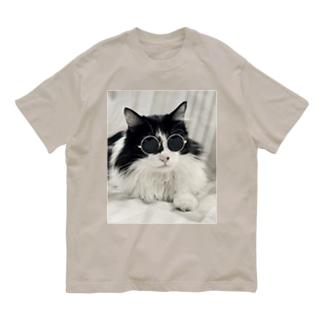 坂東玉隠しシャシャ丸(グラサンVer.) Organic Cotton T-shirts