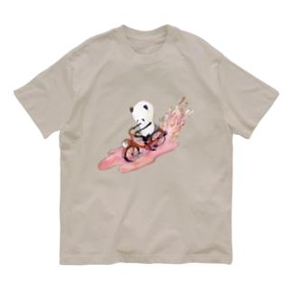 チャリンコぱんだ Organic Cotton T-shirts