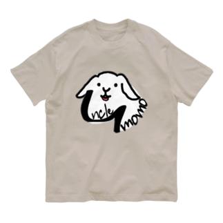 【uncle momo】ロゴ Organic Cotton T-Shirt