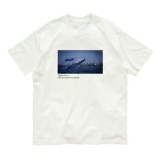 真夜中のクジラ white Organic Cotton T-shirts