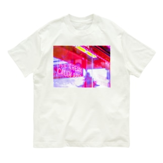 APPLE NEON 横 Organic Cotton T-shirts