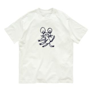 ねずみ Organic Cotton T-shirts