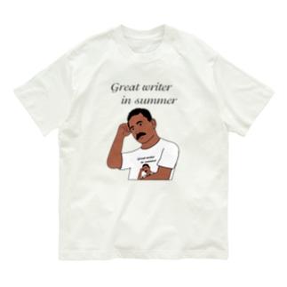 夏の文豪Tシャツを着た夏の文豪 Organic Cotton T-Shirt
