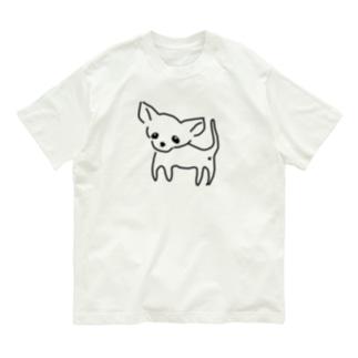 ゆるチワワ(クリア) Organic Cotton T-shirts
