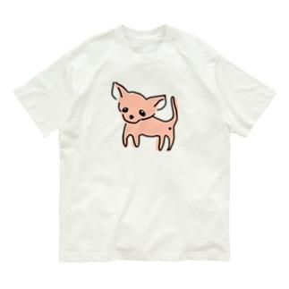 ゆるチワワ(オレンジ) Organic Cotton T-shirts