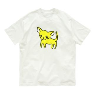 ゆるチワワ(イエロー) Organic Cotton T-shirts