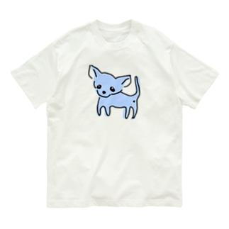 ゆるチワワ(ブルー) Organic Cotton T-shirts