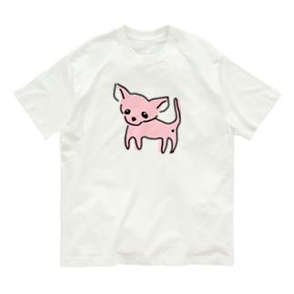 ゆるチワワ(ピンク) Organic Cotton T-shirts
