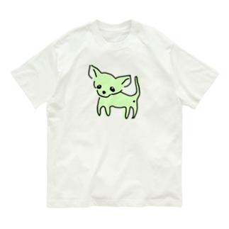 ゆるチワワ(グリーン) Organic Cotton T-shirts