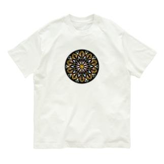 オレンジシャーベット-丸ver. Organic Cotton T-shirts
