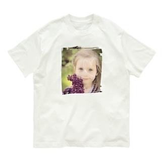 碧目のフラワーガール Organic Cotton T-shirts