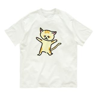 踊るスナネコ Organic Cotton T-shirts