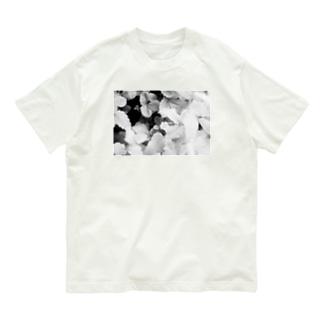 モノクロフラワー(野いちご) Organic Cotton T-Shirt