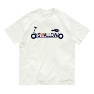 キックボード風スワローロゴ Organic Cotton T-Shirt