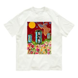 月と電話ボックス。 Organic Cotton T-shirts