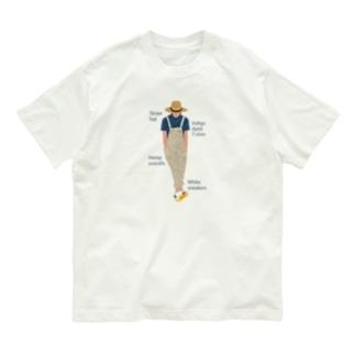 麦わらの青年にアイテムロゴをそえて Organic Cotton T-Shirt