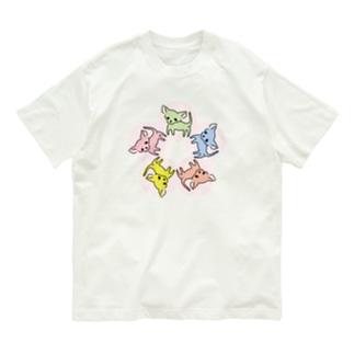 ゆるチワワ(フラワーサークル) Organic Cotton T-Shirt