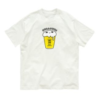 泡たっぷりビアくらげ Organic Cotton T-shirts