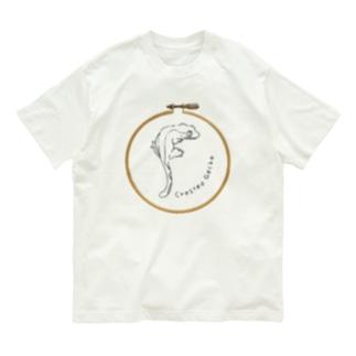 フープデザインTシャツ クレステッドゲッコー Organic Cotton T-shirts