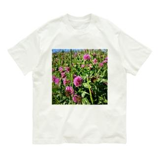 ムラサキツメクサ Organic Cotton T-Shirt