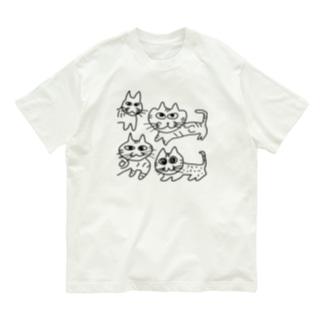 よんねこ Organic Cotton T-shirts