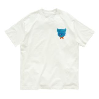 食いしん坊ジャガー青 Organic Cotton T-shirts
