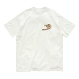 シマリス後ろ姿 Organic Cotton T-shirts