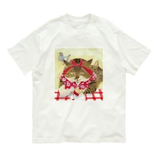 りんごを剥く姉 Organic Cotton T-shirts