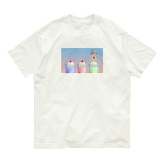CAFE ABDUCTION : クリームソーダ Tシャツ Organic Cotton T-shirts