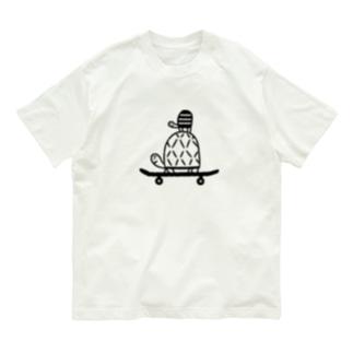 スケボー・カメ親子 Organic Cotton T-shirts