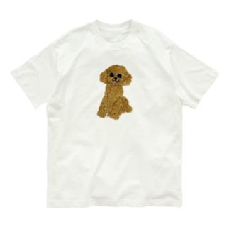 刺繍のトイプードル Organic Cotton T-shirts