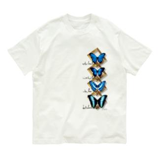 蝶と額 Organic Cotton T-shirts