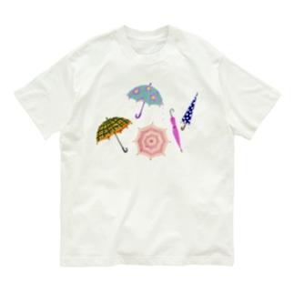 傘いろいろ Organic Cotton T-shirts