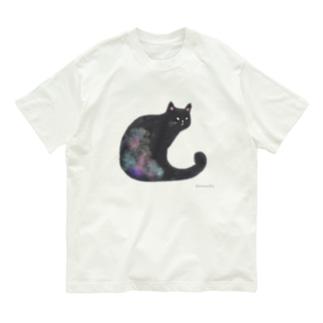 クロネコ 水彩 Organic Cotton T-shirts