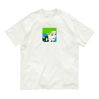 神妙な面持ち (前面) Organic Cotton T-shirts