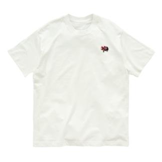 お粧しヒマラヤのヤク Organic Cotton T-shirts