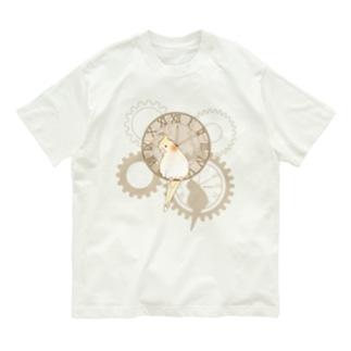 オカメインコ時計Tシャツ Organic Cotton T-shirts