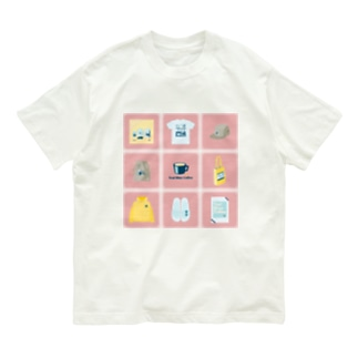 TealBlueItems _Cube PINK Ver. Organic Cotton T-shirts