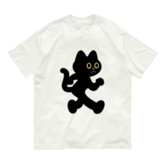 飛び出し坊や猫 黒猫 Organic Cotton T-shirts