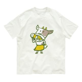 ウシさん銭湯モード Organic Cotton T-shirts