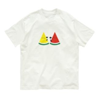 スイカとペンギン Organic Cotton T-Shirt