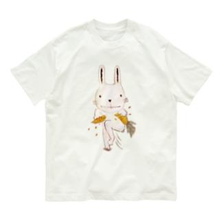 カチワリウサギ Organic Cotton T-shirts
