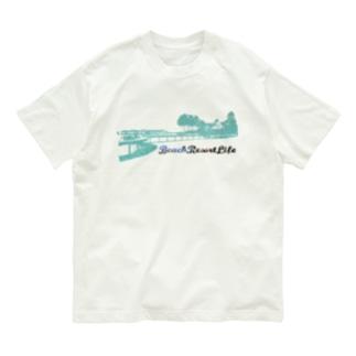 BeachResortLifeロゴプリントTシャツ Organic Cotton T-shirts