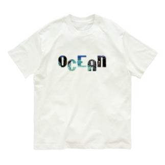 OCEAN×ビーチフォトサーフプリントTシャツ Organic Cotton T-shirts