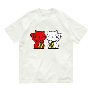 招き猫! Organic Cotton T-Shirt