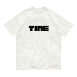 fungraphのTIME / Black Organic Cotton T-Shirt